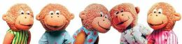 Doll Finger Puppet Five Little Monkeys 5 inch