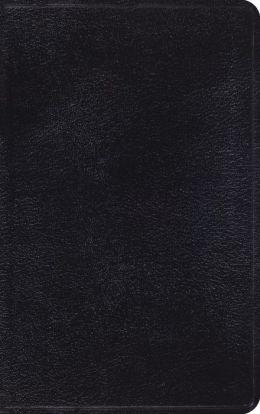 ESV Classic Thinline Bible: English Standard Version, black genuine leather