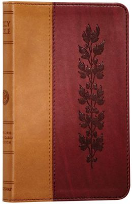 ESV Compact TruTone Bible: English Standard Version, tan/burgundy imitation leather, vine design