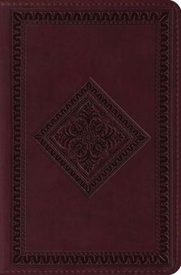 ESV Compact TruTone Bible: English Standard Version, chestnut imitation leather, diamond design