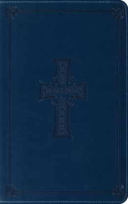 ESV Thinline Bible, Trutone, Royal Blue, Celtic Cross Design