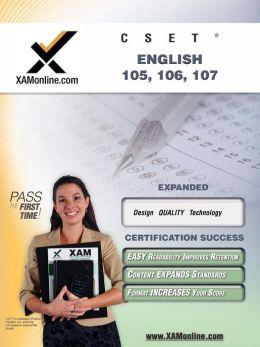 CSET English 105, 106, 107