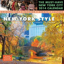 2014 New York Styles Wall Calendar