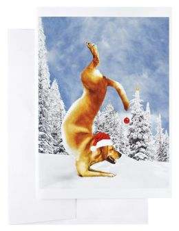 Yoga Dogs Christmas Boxed Card
