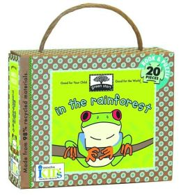 Green Start: In the Rainforest (Book and Puzzle) - Made From 98% Recycled Materials