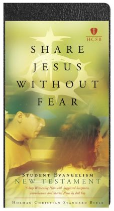 HCSB Share Jesus Without Fear Student Evangelism New Testament, Black Bonded Leather