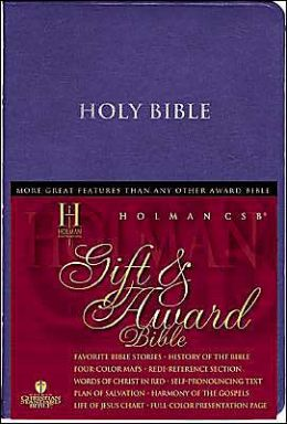 HCSB Gift & Award Bible, Blue Imitation Leather