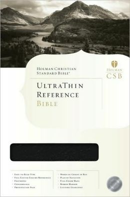 HCSB Ultrathin Reference Bible, Black Bonded Leather