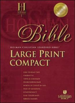 HCSB Large Print Compact Bible, Black Bonded Leather