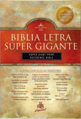 RVR 1960 Biblia Letra Super Gigante con Referencias, borgona piel fabricada con indice