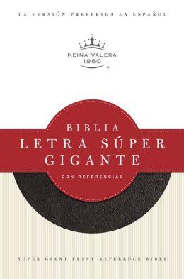 RVR 1960 Biblia Letra Super Gigante con Referencias, negro imitacion piel con indice