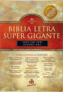 RVR 1960 Biblia Letra Super Gigante con Referencias, borgona imitacion piel con indice