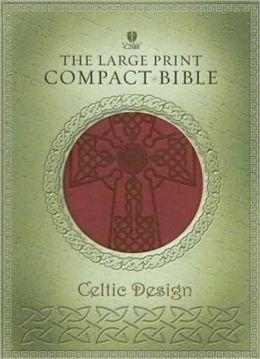 HCSB Celtic Bible Crimson Simulated Leather