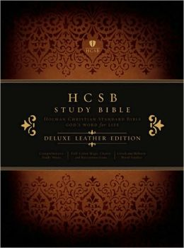 HCSB Study Bible, Black Deluxe Leather