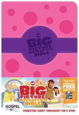 The Big Picture Interactive Bible for Kids, Purple/Pink Polka Dot LeatherTouch: Connecting Christ Throughout God's Story