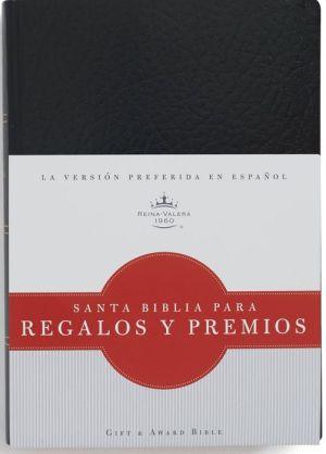 RVR 1960 Biblia para Regalos y Premios, negro imitacion piel
