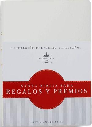 RVR 1960 Biblia para Regalos y Premios, blanco imitacion piel