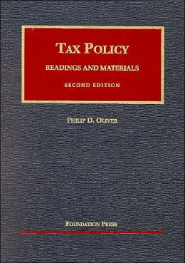 Tax Policy, Readings and Materials