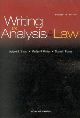 Writing and Analysis in the Law