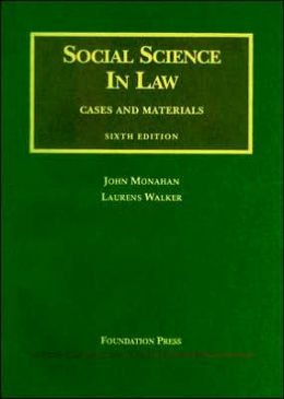 Social Science in Law:Cases and Materials