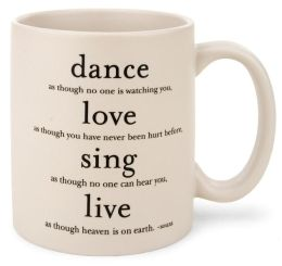 Quotable Dance Love Sing Live Mug
