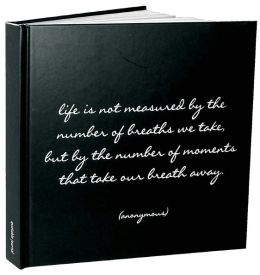 Life is Not Measured Black and White Quote Lined Bound Journal (8