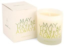Quotable Candle May you be happy always