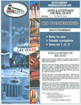 Offer & Acceptance for Real Estate, For Sale By Owner: Document Preparation Kit