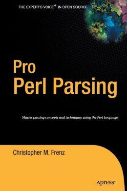 Pro Perl Parsing