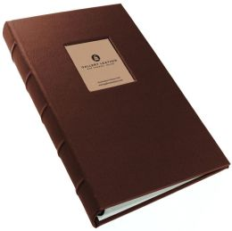 Slimline Brown Leather Window Album (9 x 11)