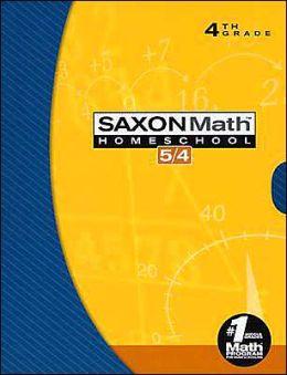 Saxon Math 5/4: Homeschool Set/Box