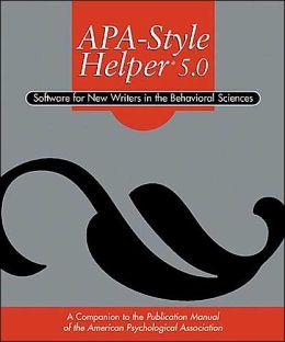 APA-Style Helper 5.0 (Software)