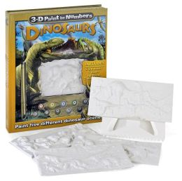 3-D Paint by Numbers: Dinosaurs