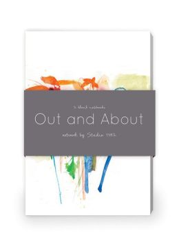 Out and About Artwork by Studio 1482 Journal Collection 1: Set of two 64-page notebooks