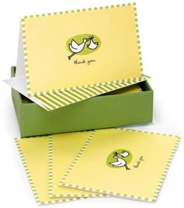Baby Stork Thank You Notes Set Of 14
