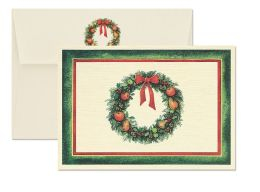 Classic Wreath Christmas Boxed Card
