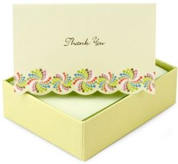 Box Card Pinwheels Thank You Card set of 14