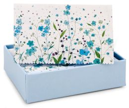 Blue Flowers Thank You Notes Set Of 14