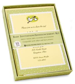 Baby Deluxe Imprintable Invitation and Announcement Kit