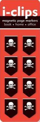 Skulls i-Clip Magnetic Page Markers (Set of 8 Magnetic Bookmarks)