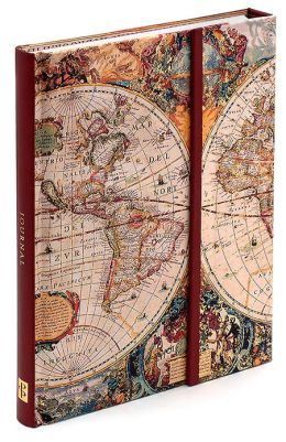 Old World Map Journal with Magnetic Flap 8.25 x 6.5