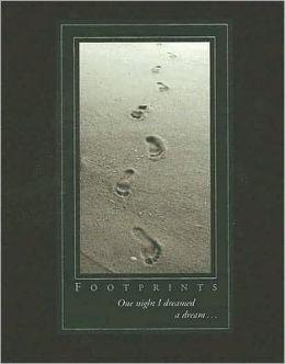 Footprints Journal with Black Cloth 7x9