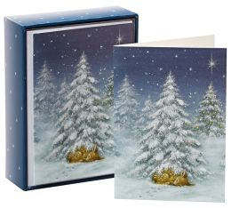 Sleeping Deer Christmas Boxed Card