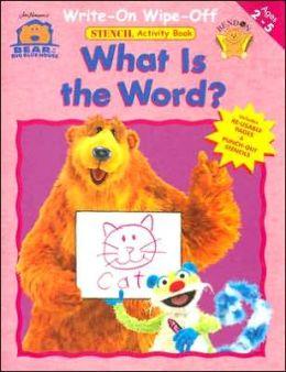 Bear Bbh Write on/Wipe off Stencil Workbook - Word