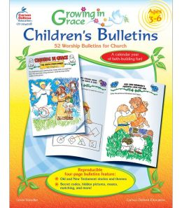 Growing in Grace Children's Bulletins: 52 Worship Bulletins for Church