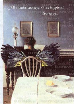Winged Woman at Piano - Greeting Card