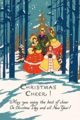 Family Walking Through Snow - Christmas Card (6 Cards Individually Bagged W/ Envelopes and Header)