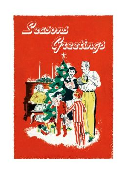 Singing Carols Around the Christmas Tree Christmas Cards [With Envelope]