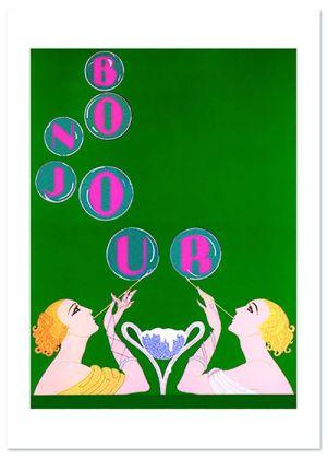 Elegant Bubbles Friendship Greeting Card