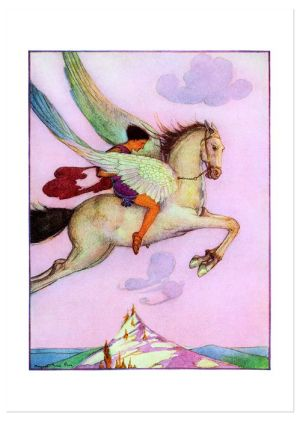 Fly! Flying Horse Graduation Greeting Card